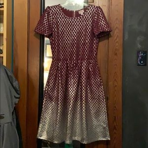 LulaRoe Elegant Collection Amelia EUC